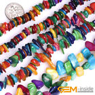 "Colorful Shell MOP Chips Gemstone Spacer Beads For Jewelry Making 15""& 34""Strand"