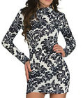 Long Sleeve Formal Party Fashion Retro Style Cocktail Evening Vintage Mini Dress