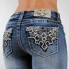 Miss Me Jeans TRIBAL BAT WINGS Mid Rise Boot 25 26 27 28 29 30 31 32 33 34