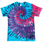 Tie dye T Shirt blue Pink and purple spiral , all sizes, Hand dyed in the UK