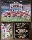 Ohio State Buckeyes 2002-03 BCS National Champions Plaque