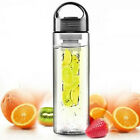 Sports Bicycle Health Fruit Infusing Infuser Lemon Juice Lid Water Bottle 700ML
