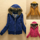 C Womens New Trendy Thicken Hoodie Casual Coat Outerwear Autumn Winter Jacket