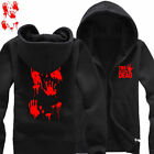 The Walking Dead Hoodies Zoombie Red Crimson Palm Scary Pattern Sweatshirts Coat