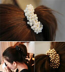 Women Pearls Beads Band Rope Scrunchie Ponytail Holder Fabulous Wholesale Nobby
