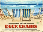 New Brilliant Blue Deck Chairs For Hire Tin Sign