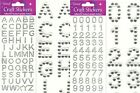 Self Adhesive Stick On Diamanate Alphabet Letters / Numbers Card Making Craft