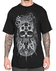 Sullen Clothing Brinkster Badge Mens T Shirt Black Skull Tattoo Goth Tee