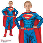 FANCY DRESS COSTUME ~ BOYS DC COMIC BOOK DELUXE SUPERMAN AGES 3-10 YEARS