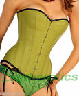 Lime Leather corset basque bustier corsage overbust 19L