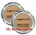 BULK 2 X MAX FACTOR MIRACLE TOUCH LIQUID ILLUSION FOUNDATIONS - NEW-FULL SIZE