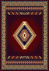 BURGUNDY multi-colored SOUTHWESTERN lodge CARPET native AMERICAN area RUG