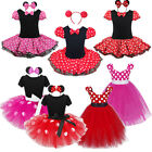Minnie Mouse Girls Kids Birthday Party Tutu Clothing Cosplay Dress Up 1-10