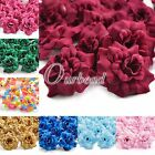 50Pcs Rose Artificial Silk Flower Heads Wedding Supplies 26 Assorted Colours
