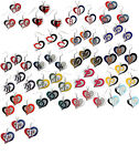 swirl heart necklace earring set charm MLB PICK YOUR TEAM