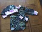 Personalized Girls Realtree Camouflage Camo 3PC L/Sleeve Set Infant Newborn Baby