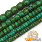 """Natural Rondelle Old Turquoise Gemstone Jewelry Making Beads Strand 15"""""""