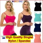 Plus Size Basic Long Cami Camisole Tight Singlet Top Spandex14 16 18 20 22 24 26