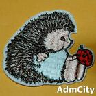 Hedgehog Hedgie Ladybug Embroidered Iron on Sew Applique Patch Animal Critter