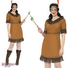 FANCY DRESS COSTUME # LADIES WILD WEST INDIAN MAIDEN SQUAW DRESS SIZE 8-18