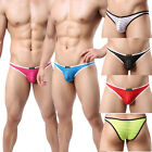 Sexy Mens Underwear Briefs Stripes Breathable Pouch Mesh Panties Underpants