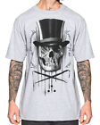 Sullen Clothing  Diamonds And Stones Mens T Shirt Grey Skull Tattoo Tee