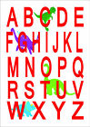 Alphabet Print Poster Nursery Baby Room Kids Children's Bedroom Christening A3