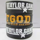 "Taylor Gang Or Die 1"" Wide Silicone Wristband Bracelet 50pcs/lot Free Shipping"