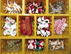 3 x CHRISTMAS Cake Decorations/Toppers (Plastic Santa/Trees/Smowmen) (Culpitt)