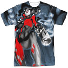 Harley Quinn Nice Shot DC Comics All Over Sublimation Poly Adult Shirt S-3XL