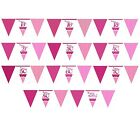 Pertfectly PINK/Girl Alter Geburtstag Papier Flagge AMMERN (3,7 m) (Feier/Party)