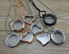 New 30mm Living Memory Floating Charms Glass Locket Pendant Necklace Free Chain