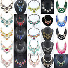 Stylish Charm Rhinestone Chain Crystal Choker Chunky Statement bib Necklace gift