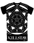 Killstar Sigillum Dei Extra Long T Shirt Mens Black White Goth Witchcraft Tee