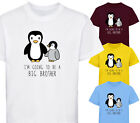 I'M GOING TO BE A BIG BROTHER PENGUIN BOYS DESIGNER T SHIRT TSHIRT CHILDRENS