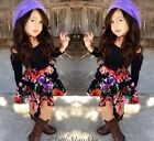 New Hot Sell Spring New Baby Girls Long Sleeve  Dress Fit 2-8T