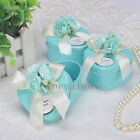 12PCS Heart Wedding Birthday Party Favor Boxes Tin Gift Candy Box Baby Shower