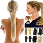Popular one piece Clip In Pony Tail Hair Extensions Silky Straight Ponytail Hj12