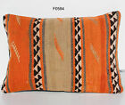 "20"" x 14"" MATCHING VINTAGE TURKISH HANDWOVEN KILIM RUG PILLOW COVER F0584-6"