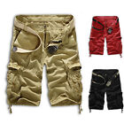 Stylish Mens Casual Summer Cotton Army Overall Cargo Shorts Short Pants 3 Colors