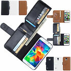 Flip Card Holder Wallet Leather Case Cover For Samsung Galaxy / Apple iPhone