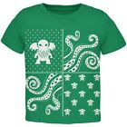 Cthulhu Lovecraft Ugly Christmas Sweater Green Toddler T-Shirt