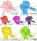 50mm Polka Dot Pull Bows  Wedding Pew Bouquet Car Ribbon Gift Craft Floristry