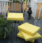 """Set of 4 ~ 18""""X17"""" Outdoor Universal Patio Dining Chair Cushion, Solid Colors"""