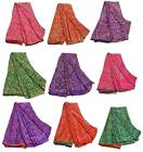SANSKRITI NEW INDIAN SAREE MOSS CREPE  SARI BLOUSE PIECE FABRIC CRAFT BANDHANI