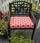 Red Chain Link - Geometric Patio Chair Cushion Pad -Choose Size -In / Outdoor