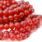 "16"" Gemstone Carnelian Red Agate Round Beads 6mm, 8mm, 10mm  Grade A+"