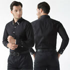 Classic Collect Mens Casual Dress Shirts Long Sleeve Formal Slim Fit Tops Shirt