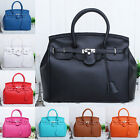 New Celebrity Retro Lady Lock Candy Messenger Totes Hand Bag PU Leather 8 color