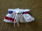 Buffalo Bills Football NFL Bridal Garter White lace trim Regular Plus size